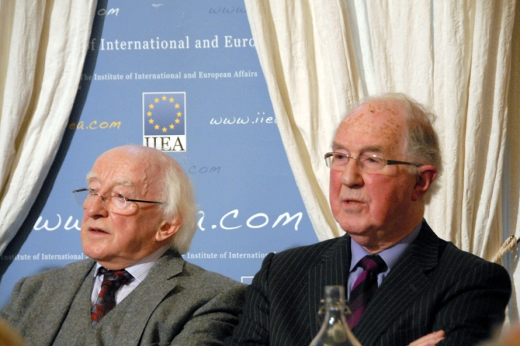President Michael D Higgins and Institute Chairman, Brendan Halligan.