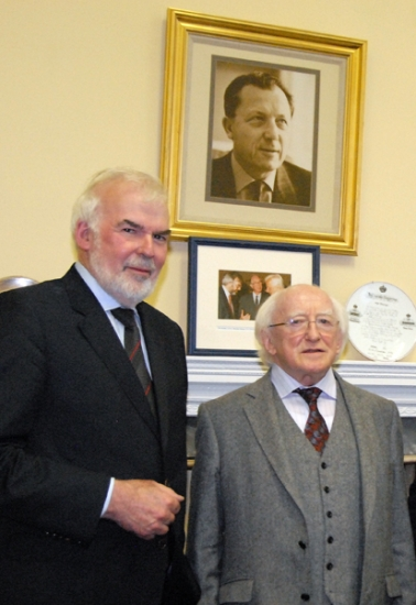 President of Ireland, Michael D Higgins, and Tom Arnold, Director of the IIEA.