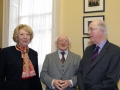 President of Ireland, Michael D Higgins, and First Lady, Sabina Higgins, in conversation with Brendan Halligan, Chairman of the Institute.