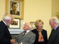 Director General, Tom Arnold; President of Ireland, Michael D Higgins, First Lady Sabina Higgins, and the Chairman, Brendan Halligan, in conversation.