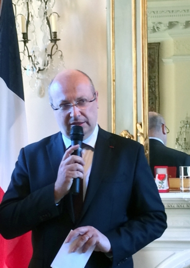 02 - H.E. Jean-Pierre Thébault gives the introduction to the ceremony