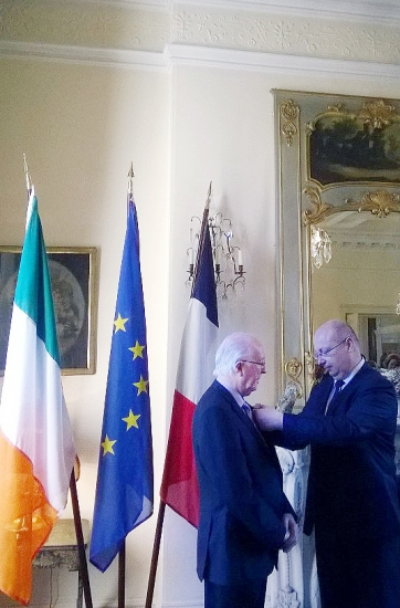 05 - Brendan Halligan receives the order of Chevalier de la Légion d'Honneur