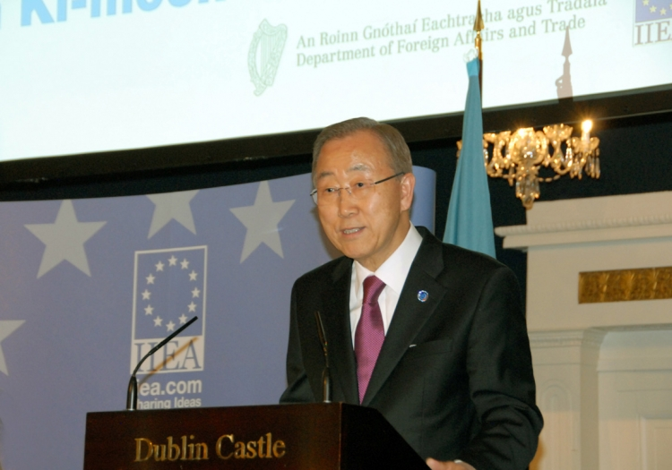 "8. UN Secretary-General Ban Ki-moon presents a lecture entitled:  ""The UN at 70:  Looking back, Looking Forward"" at St Patrick's Hall, Dublin Castle"