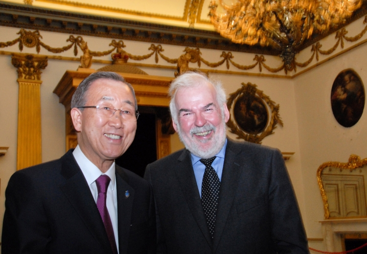 19. UN Secretary-General Ban Ki-moon and Tom Arnold, Director General of IIEA