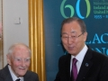 14. Former Irish Taoiseach Liam Cosgrave and UN Secretary-General Ban Ki-moon meet at the event in Dublin Castle