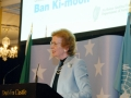 11. Former Irish President, Mary Robinson, now UN Special Envoy for Climate Change, delivers a moving speech following the lecture by UN Secretary-General Ban Ki-moon