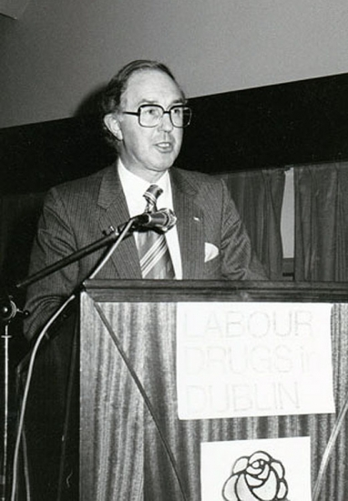 Brendan Halligan at a Labour Party Conference in 1983