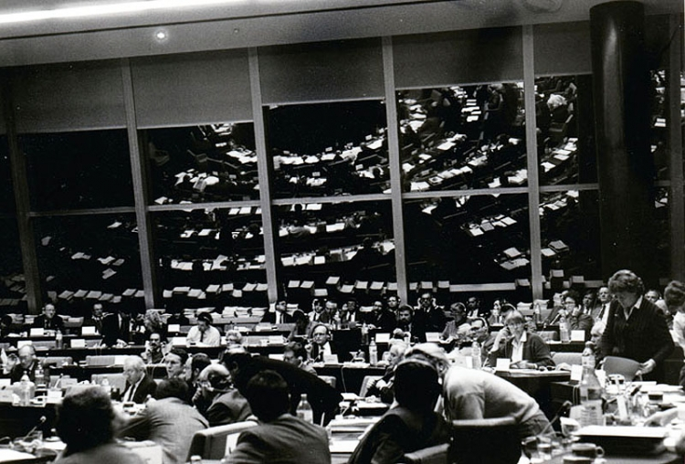 A meeting of the Socialist Group, European Parliament, Strasbourg, 1984