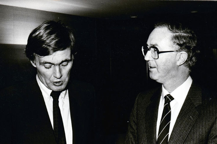 Brendan Halligan in conversation with Piet Dankert, 1983