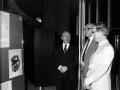 Brendan Halligan and Commissioner Dick Burke, Brussels, 1982