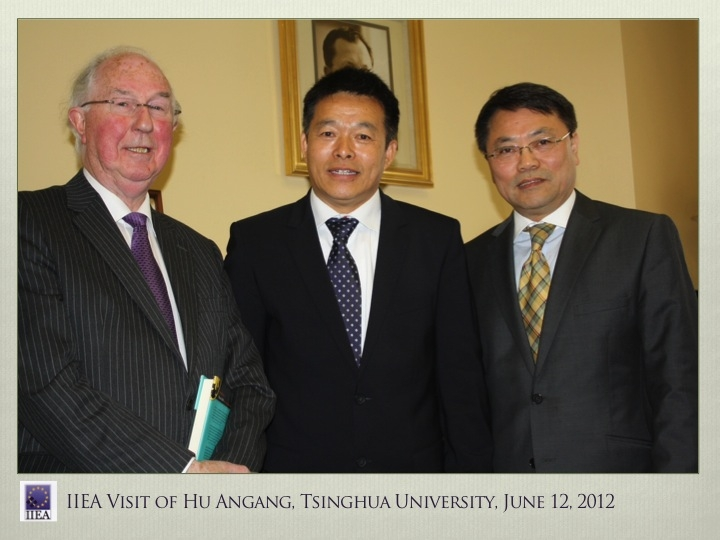 A visit by Professor Hu Angang to the IIEA, 2012