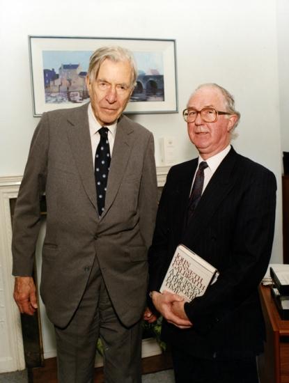 Brendan Halligan and John Kenneth Galbraith