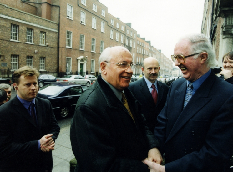 Mikhail Gorbachev and Brendan Halligan