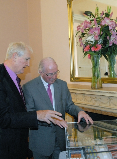 Dr Eddie O'Connor and Brendan Halligan, Chairman IIEA, discuss an alternative energy Super Node