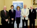Chairman of the IIEA, Brendan Halligan, with Jill Donoghue, IIEA VP for Research and Global Affairs, Dr Eddie O'Connor of Mainstream Renewable Power and Liam Connellan, former head of the Confederation of Irish Industry.