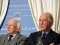 President Michael D Higgins, President of Ireland, with Brendan Halligan, Chairman, IIEA