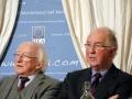 President Michael D Higgins, President of Ireland, with Brendan Halligan, Chairman, IIEA
