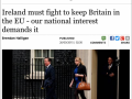 Op Ed by Brendan Halligan, Irish Independent, 26 March 2015