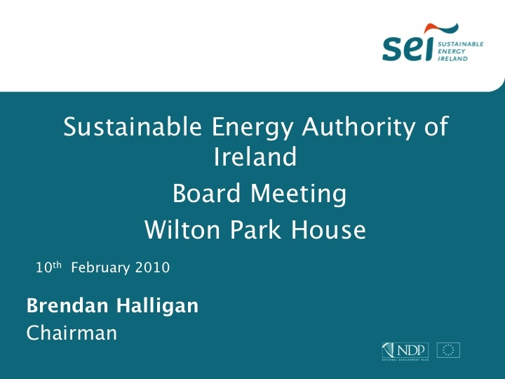 2 Europe's Energy Exporter - Brendan Halligan