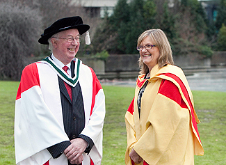 Honorary Degree of Doctor of Literature received by Brendan from UCD