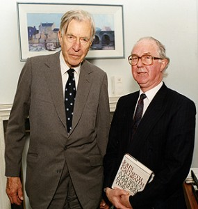 Brendan Halligan with John Kenneth Galbraith