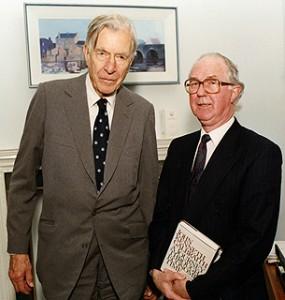 Brendan Halligan with John Kenneth Galbraith