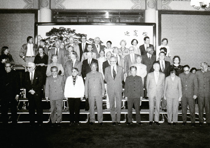 Brendan Halligan in the Great Hall of the People's China with a European Delegation and representatives of the People's National Assembly