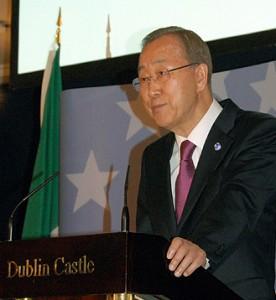 Ban Ki-moon visits Dublin Castle