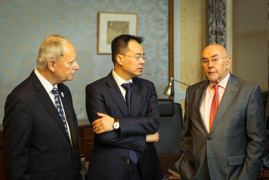 ICI Chairman Ken Duggan with ICI board members Alan Wang and Ruairi Quinn