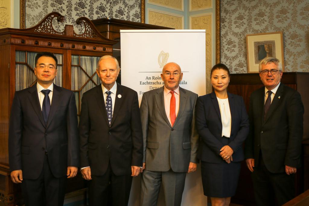 ICI Board Members Alan Wang, Ken Duggan and Ruairi Quinn with Cathy McGrane and Tim Mawe, Director of the Asia Pacific Unit, DFAT