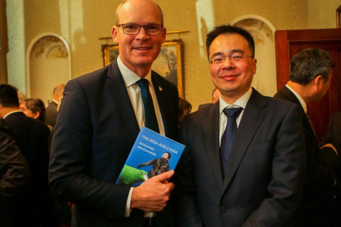 An Tanaiste Simon Coveney with ICI Board Member Alan Wang