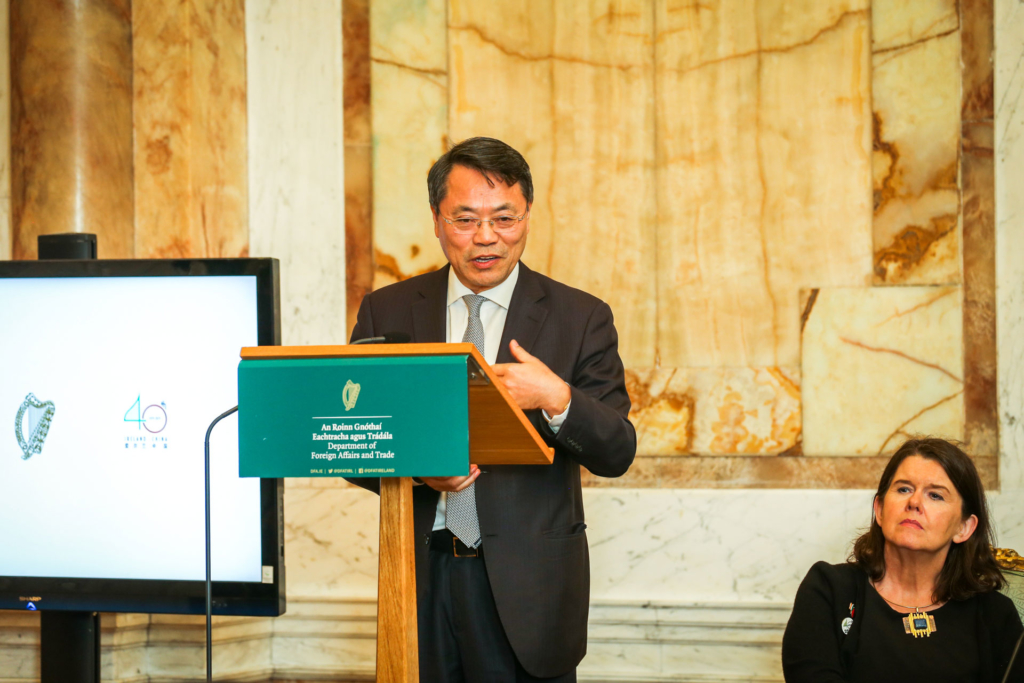 Professor Liming Wang ICI Board Member who addressed the event