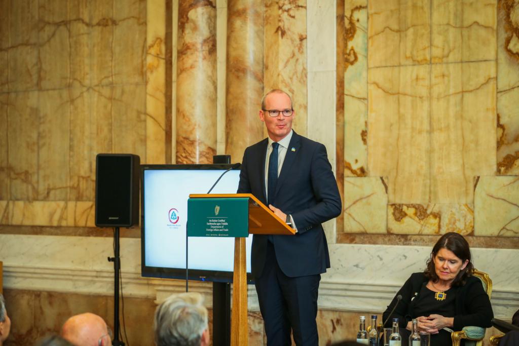 An Tanaiste Simon Coveney giving the keynote address